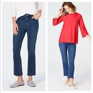 J. Jill Kick-Flare Ankle Jeans, Waverly Wash, 16P